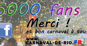 5000 fans facebook carnaval de rio