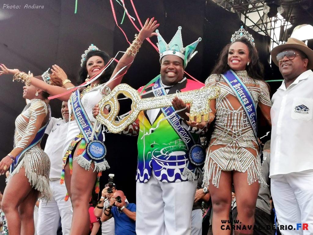 Le roi et la reine du carnaval de rio 2020