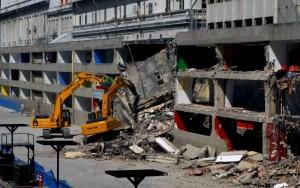 demolition d'une partie du sambodromo